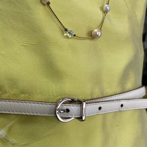 Salvador Ferragamo White Leather belt